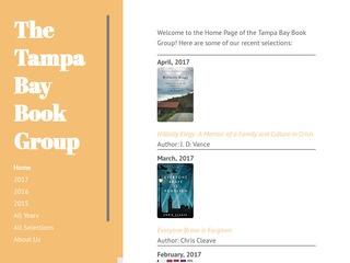 My book group website