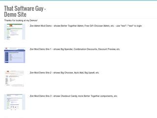 My Demo Sites